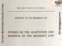 Decree on the Adaptation and Renewal of the Religious Life